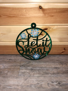 Green Let It Snow Metal Art - Cut'N Creations