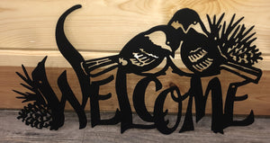 Black Chickadee Powder Coated Metal Art