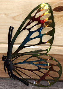Hand painted Butterfly Metal Art