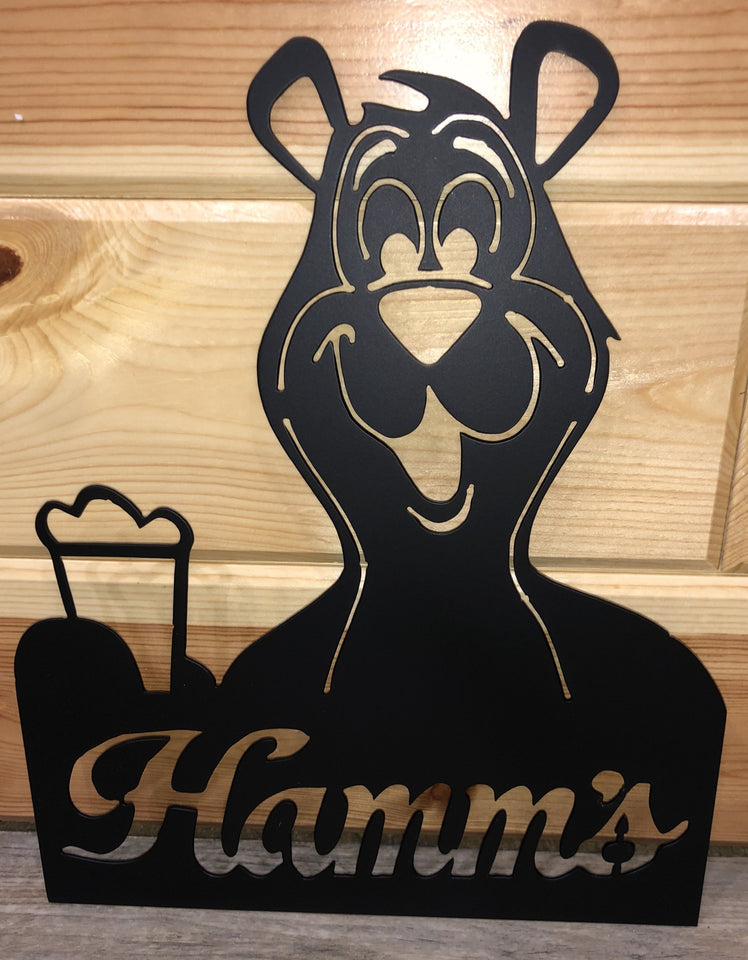 Hamm's Beer Bear - Metal Art