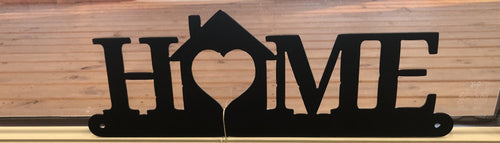 home with house wall hanging metal art - cut'n creations
