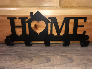 home with house key holder metal wall hanging - cut'n creations