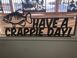 have. crappie day! wall hanging metal art - cut'n creations