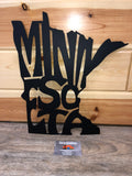 Minnesota letter metal art sign - Cut'N Creations