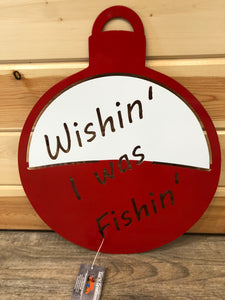 Wishin I was Fishin - metal wall decor cut'creations