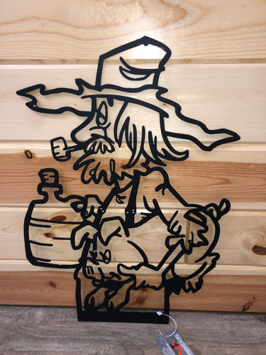 backwoods man with moonshine metal decor - cut'n creations