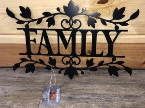 family with flower design - cut'n creations metalworks
