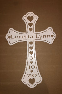 custom beaded cross metal decor - cut'n creations