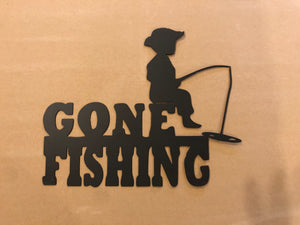 Gone Fishing Metal Wall Decor - Cut'N Creations Metalworks