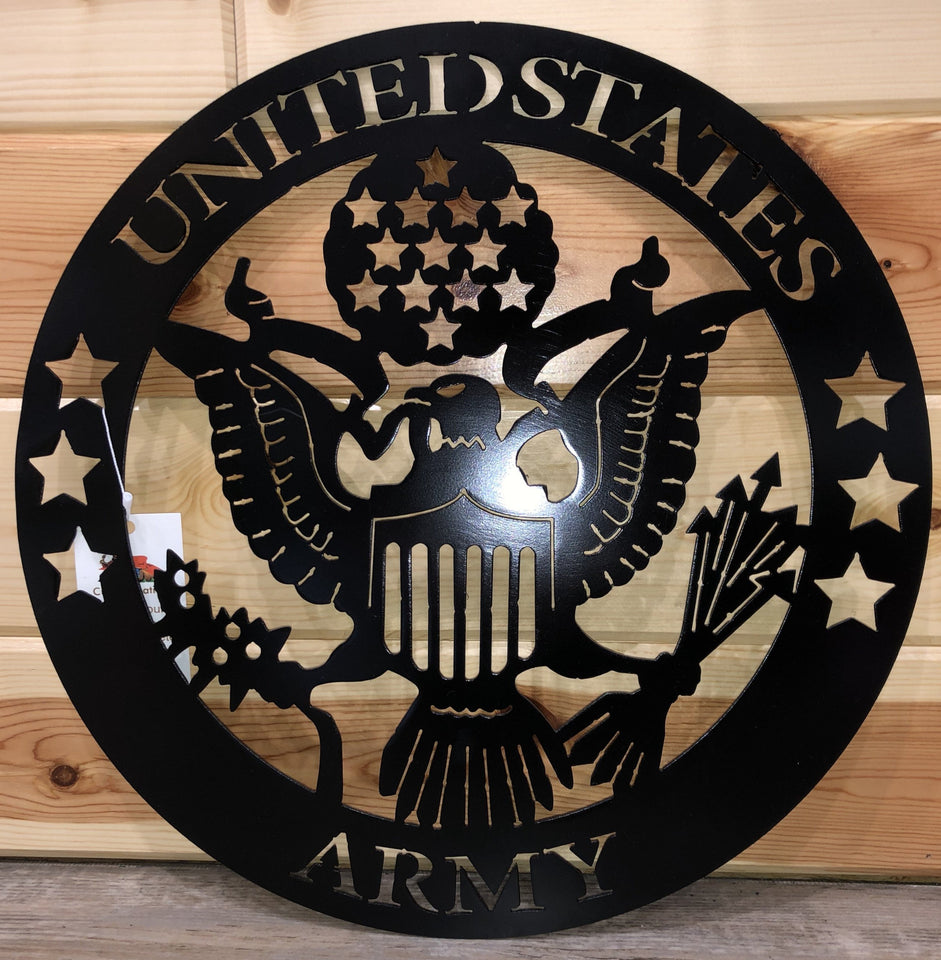 United States Army Wall Hanging Metal Art- cut'n creations