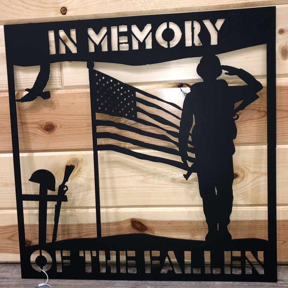 In Memory of the Fallen Metal Art - Cut'N Creations