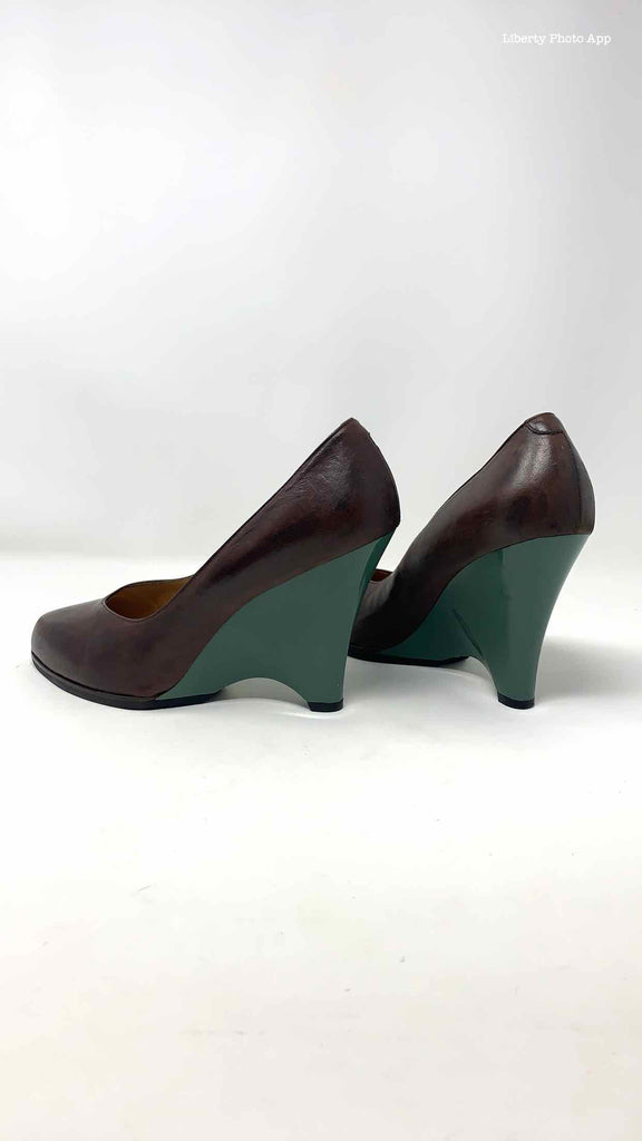 MARNI Size 9.5 Brown Green Wedges