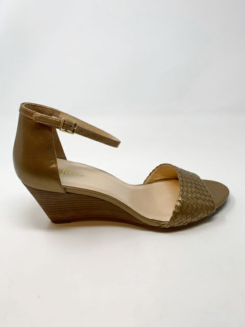 Size 9 COLE HAAN Gold Metallic Wedges