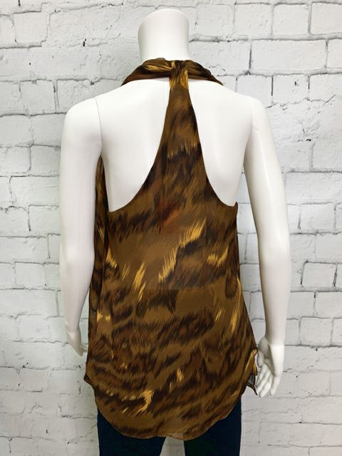 DIANE VON FURSTENBERG Size 6 Brown Tan Blouse