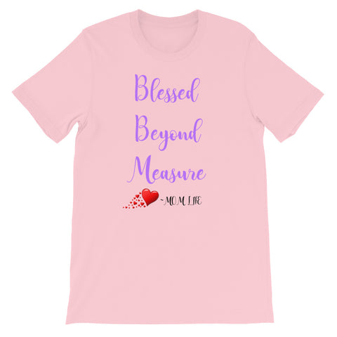 Blessed Beyond Measure Adult Size Christian T Shirt Pink