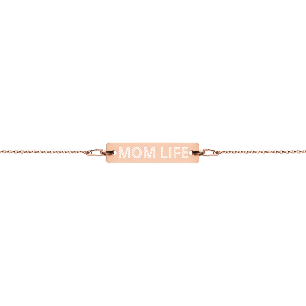 Mom Life 18k Rose Gold Coated Silver Bracelet | Christian Jewelry