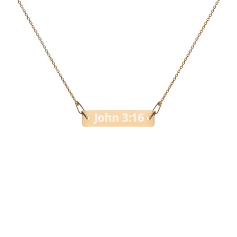 John 3:16 24k Gold Coated Silver Necklace