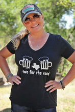 "Live Love Travel Two for the Road ""Cheers"" V-Neck Tee"