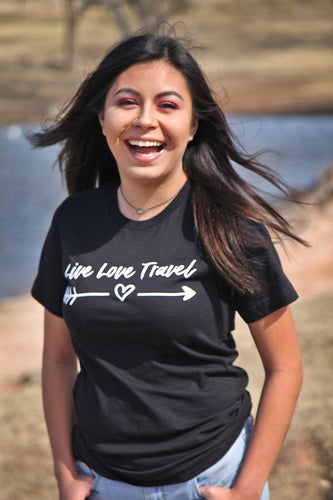 Official Live Love Travel Girls' Crew Neck Tee