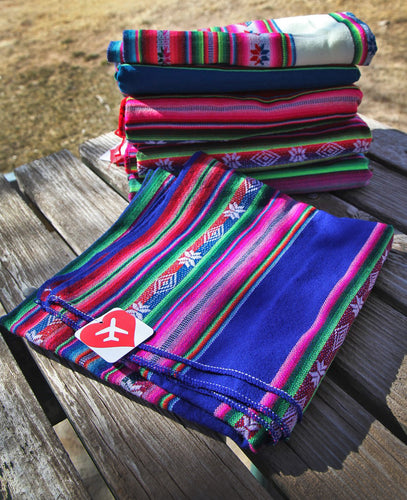 LIMITED: Authentic Colorful Hand-Made Blankets from Bolivia