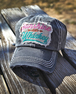 "Women's ""Sunshine and Whiskey"" Vintage-Style Cap"