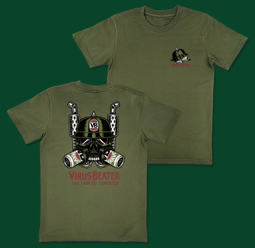 Virus Beater T-Shirt Army Green