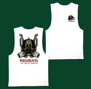 Virus Beater Muscle Tee White