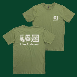 Get On The Beers T-Shirt Army Green