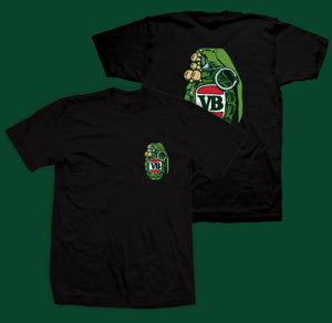 Green Grenade T-Shirt Black High quality front and back print