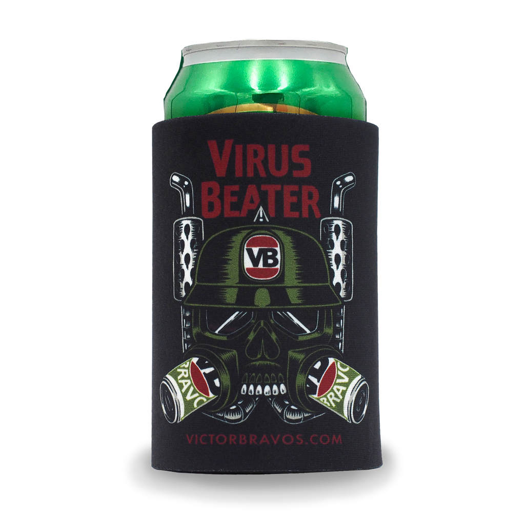 Virus Beater Stubbie Cooler
