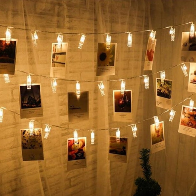 Photo clip fairy lights (warm white, 20 LEDs)