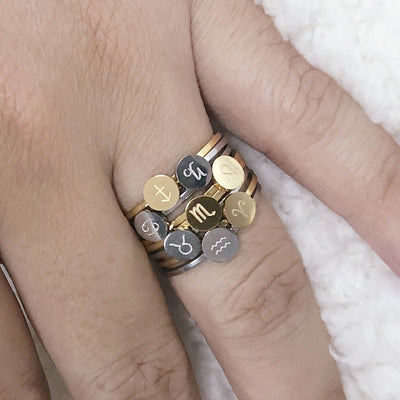 Zodiac sign ring (all signs available)