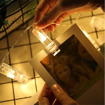 Cozy home decoration battery operated led fairy lights. Warm white photo clips fairy lights.