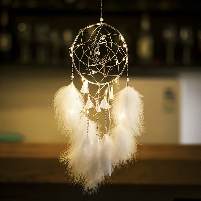 Moon fairy light dream catcher (4 colors available)