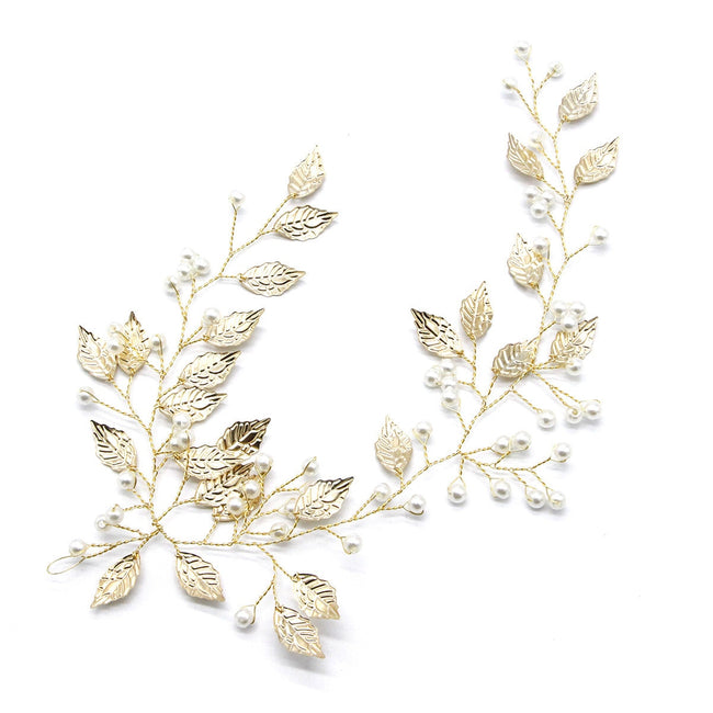 Leaf and pearl hair accessory