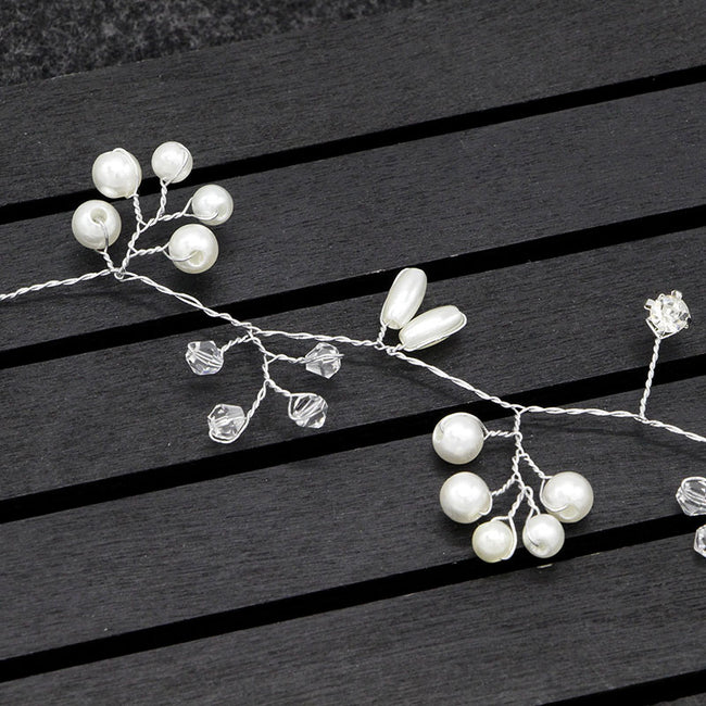 Flower and rhinestone hair band (2 colors available)