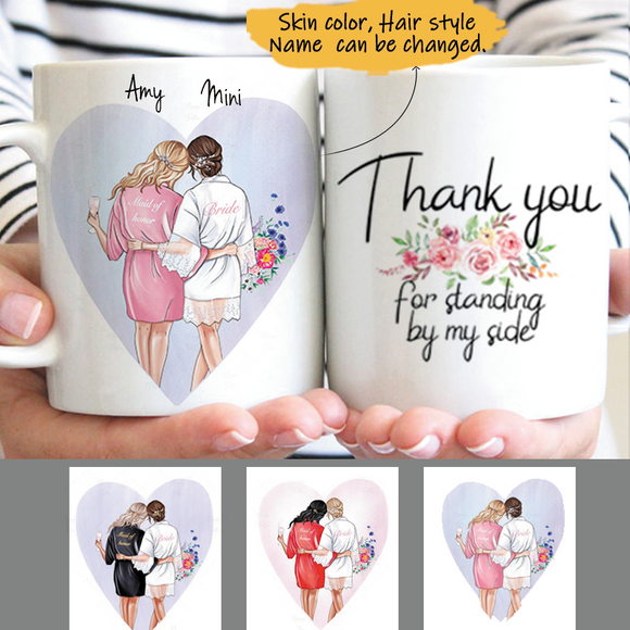 Customize Mug Gift for 2 Sisters -Friends  -Wedding