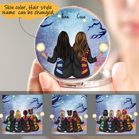 Customized Pocket Mirror 2-5 Sisters-Friends