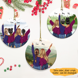 Personalized Ceramic Ornament Sisters forever- Best friends - Besties Forever