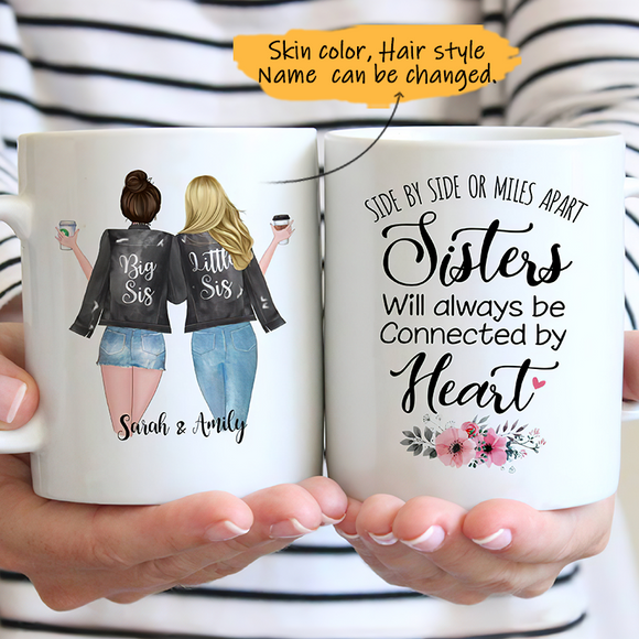 Customize Mug Gift for 2 Sisters Leather Jacket -Friends