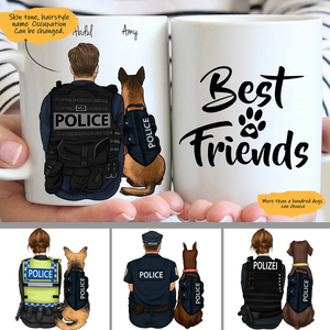 Customize Mug - Police and Dogs