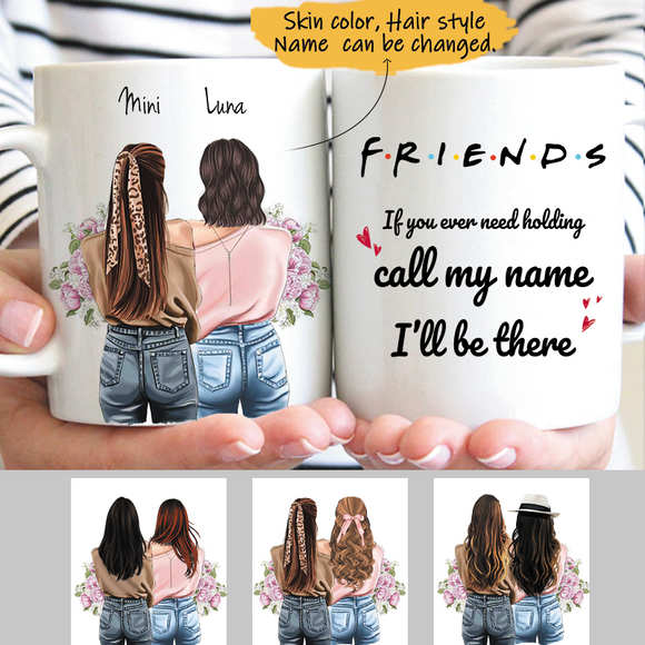 Customize Mug Gift for 2 Sisters -Friends