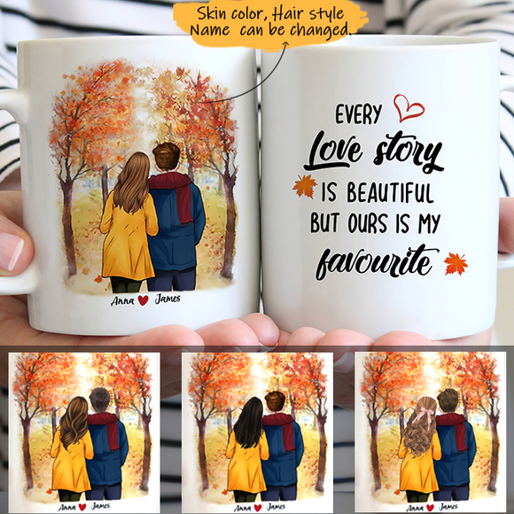 Customize Mug Gift for Couple-  Apricot