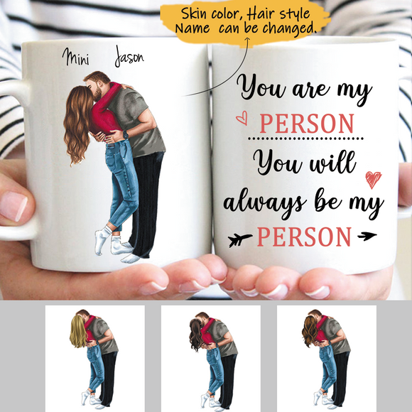 Customize Mug Gift for Couple Lovers-Boy And Gril Kiss