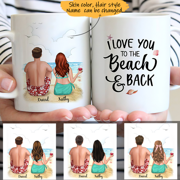 Customize Mug Gift for Couple-   Beach