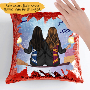 Customize Sequins Pillow Cases For 2-5 Sisters-Friends