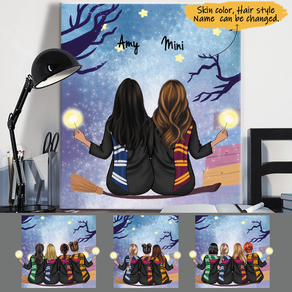 Customize Canvas-Print Gift 2-5 Sisters-Friends
