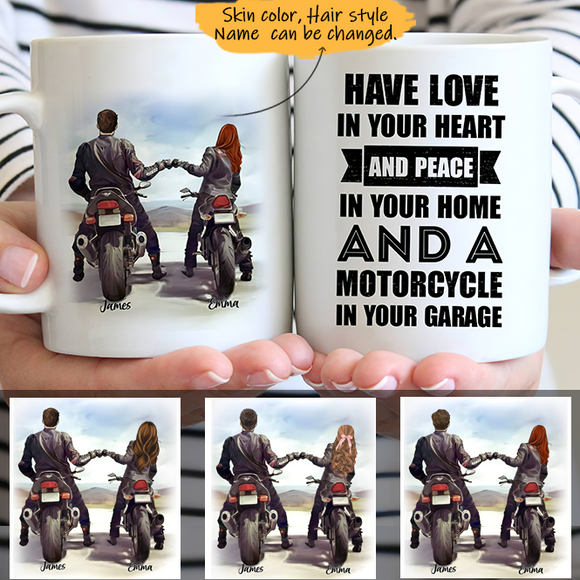 Customize Mug Gift for Couple-Ride a Motorcycle