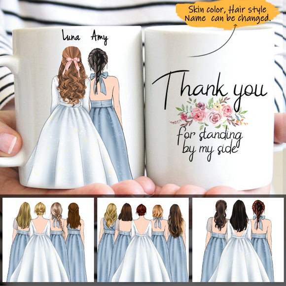 Customize Mug Bride and Bridesmaids-Wedding