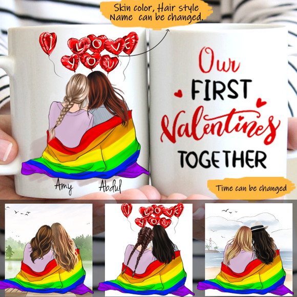 Customize Mug-LGBT -Gril And Gril-My Lover